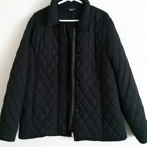 White Stag Black Quilted Jacket Size Lg 12/14